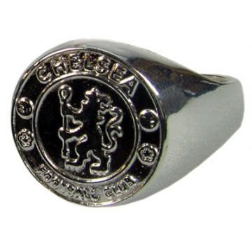 Chelsea FC Silver Plated Crest Ring - Medium